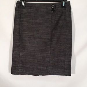 Ann Taylor Gray Pencil Skirt Womens Petite Size 0P